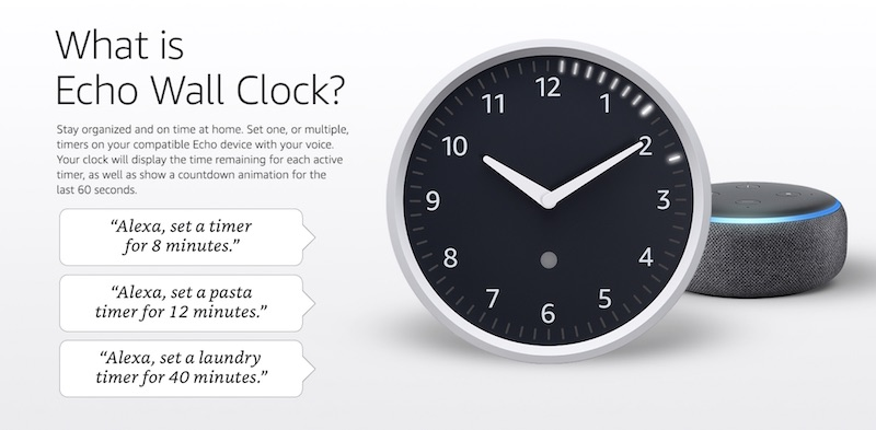 Amazon Echo Wall Clock Now Available for Purchase - Voicebot