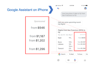 Google Assistant Now Showing Sponsored Link Ads for Some Travel Related Queries – EXCLUSIVE