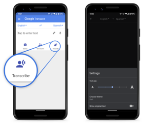 Google Translate Adds Real-Time Transcription Feature